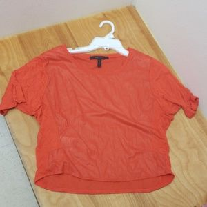 😍 BCBGMAXAZRIA top- orange, size small